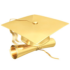 gilded graduation 3d