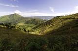 Fototapety landscape with mountains  near toba lake in sumatra