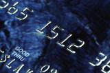 banking card in macro poster