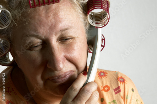 housewife on the phone
