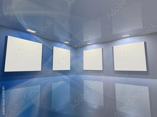 virtual gallery - blue