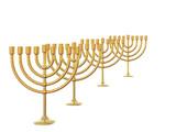 four golden menorah poster