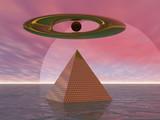 surreal pyramid poster