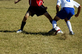 soccer action poster