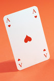 the ace of hearts in close up poster