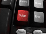 red botton delete in macro poster