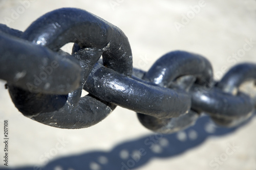 poster of black chain in close up