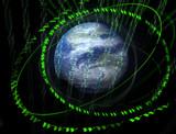 3d digital world poster