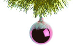 new-year tree decorations poster