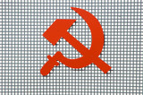 red communism sign poster