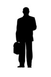 businessman silhouette isolated poster