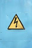 high voltage symbol poster