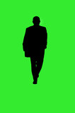 businessman walking silhouette poster