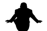businessman silhouette poster