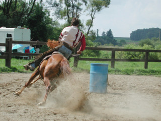 barrel racing western rider