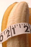 banana macro with tape measure poster