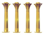four golden egyptian columns poster