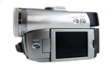 sideview of digital camera