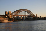harbour bridge at sunrise poster