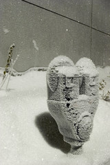 frozen: parking meter