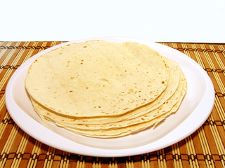 plate of tortillas