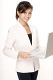 girl wih laptop 3 poster