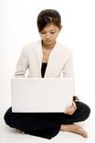 girl wih laptop 4 poster