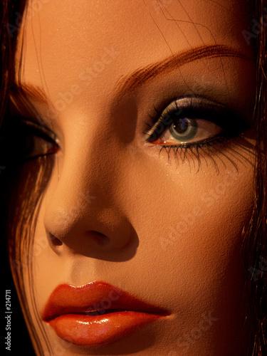 Brune aux yeux bleus photo libre de droits sur la banque - Brune yeux bleus ...