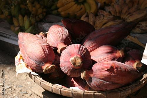 fleurs de bananiers marché