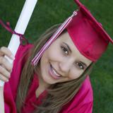 smiling graduate poster