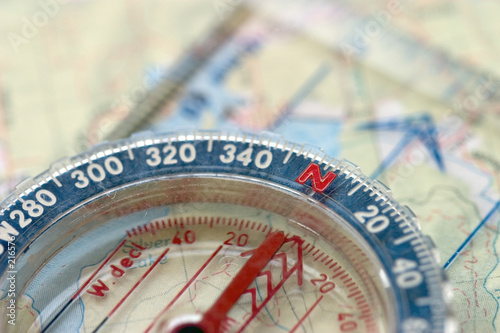 compass and map, macro - 216576