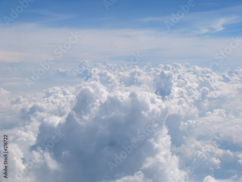 aerial view on clouds field poster