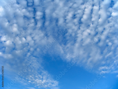 poster of fleecy clouds