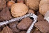 macro nuts poster