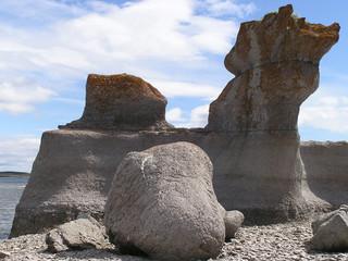 fallen granit stone