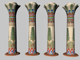 four egyptian pillars two poster
