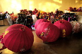 manufacture of silk lanterns in hoi an poster
