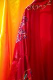 silk clothes in vietnam poster