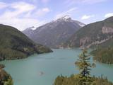 turquoise diablo lake poster