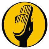 vintage microphone icon poster