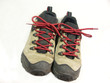 pair of hiking shoes on white background