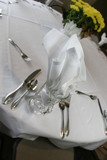 wedding reception table setting poster
