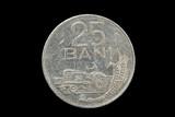 twenty five bani coin poster