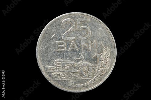 poster of twenty five bani coin