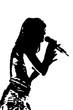 chanteuse en concert