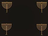 gold menorahs - copy space poster