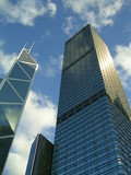 architecture cheung kong centre & bank of china tower poster