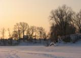rural winter scene poster