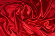 red satin/silk fabric 3