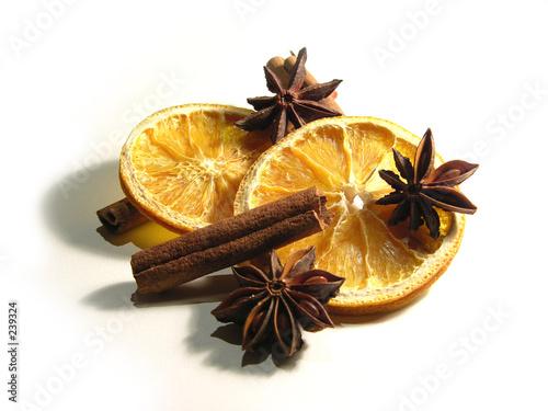 orangen - zimt - anis arrangement